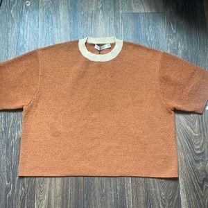 Dusty Palm Knit Tee in Rust